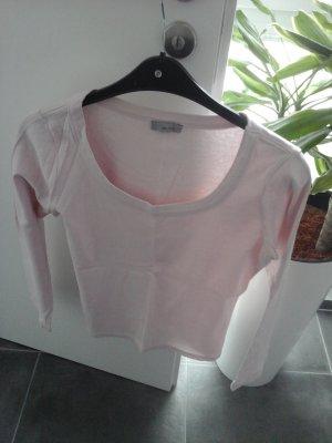 Sweater met korte mouwen rosé