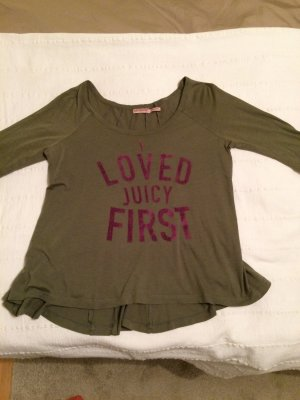 T-Shirt mit 3/4 Arm in olive