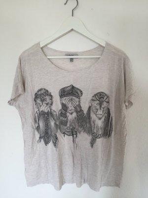 T-Shirt mit Affenprint