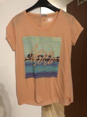 Stitch & Soul Camiseta estampada albaricoque-salmón