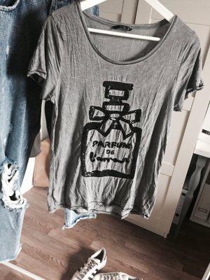 T-Shirt mit Aufdruck Pailetten Parfum Chanel