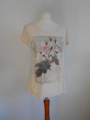 T-Shirt mit Aufdruck und Stickerei