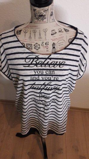 T Shirt mit Aufschrift, NEU, Plus Size, Gr.46