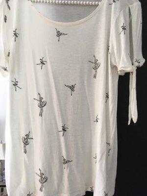 Orsay Camiseta estampada crema-negro Algodón