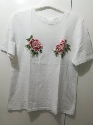 T-Shirt mit Blumen Patches