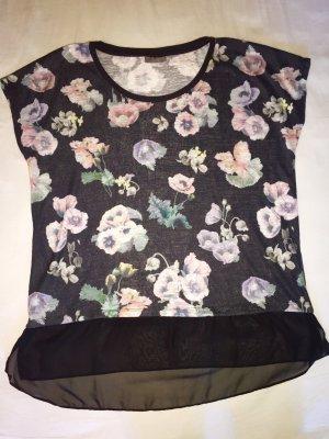 T-Shirt mit Blumenmuster (C&A), Gr. L