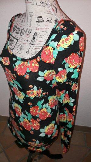 T Shirt mit Blumenmuster, NEU, Gr.M