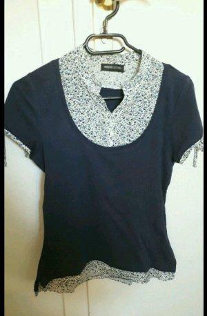 T-Shirt mit Bluseneinsatz Gröse 32/34