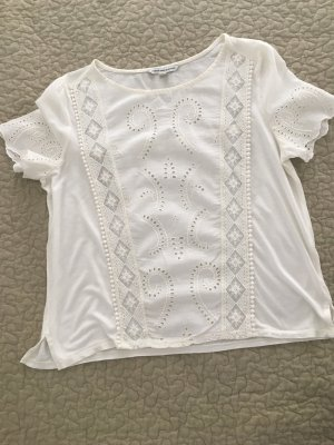 T shirt mit Broderie Anglaise