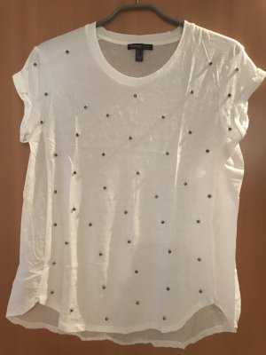 Mango casual Top extra-large blanc
