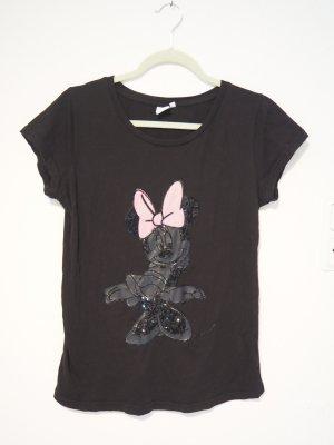 T-Shirt mit Disney©-Motiv aus Pailletten Minnie Maus