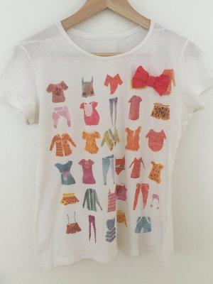 T shirt mit Druck & Zierschleife