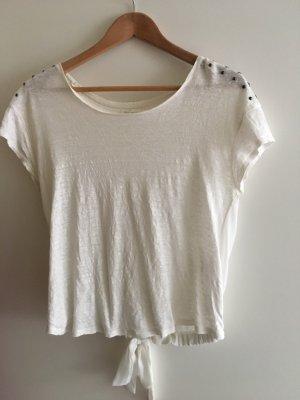 T-Shirt mit durchsichtigem Rücken
