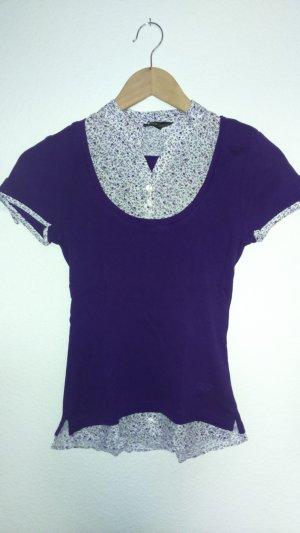T-Shirt mit eingenähter Bluse