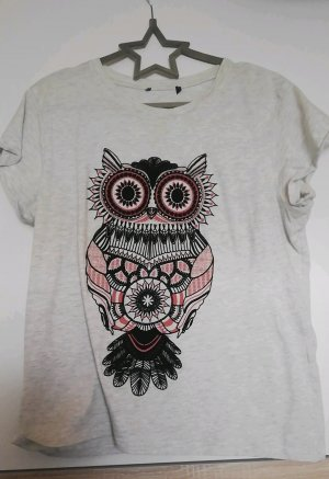 T-Shirt mit Eulendruck