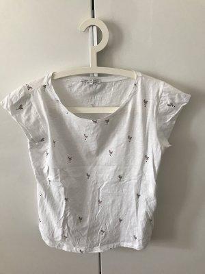 T Shirt mit Flamingo Print