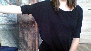 T-Shirt mit Fledermausärmeln