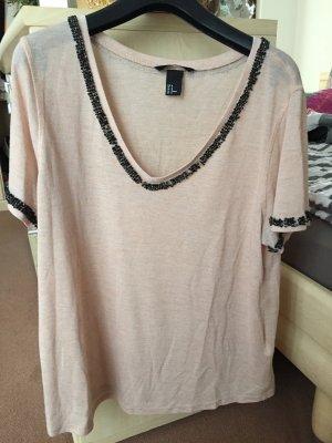 H&M V-Neck Shirt dusky pink