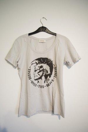 T-Shirt mit Glitzer-Indianerkopf
