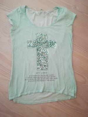 T-shirt mit Glitzer- Kreuz
