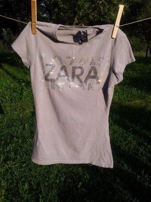 T-Shirt mit Glitzeraufdruck von Zara