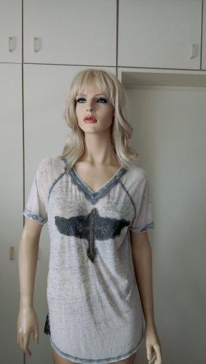 T-shirt mit Glitzerpailetten und Kreuz Gr.40 von Culture