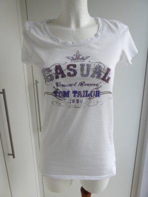 T-Shirt mit Glitzersteinchen