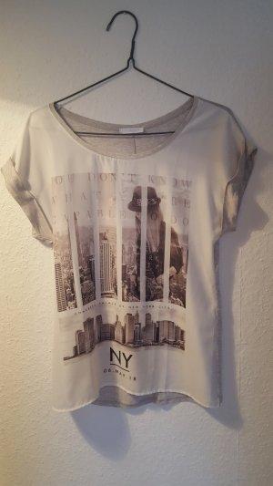 T-Shirt mit großem Druck