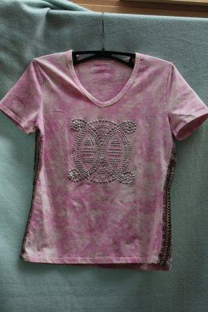 Batik shirt roze-wit