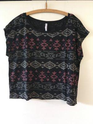 T-Shirt mit Ikatmuster