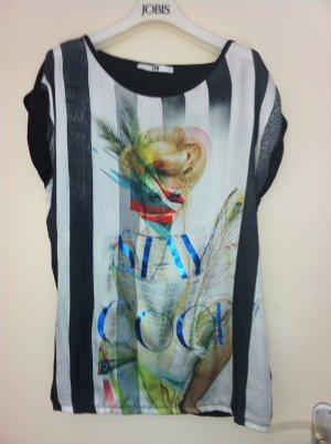 T-Shirt mit interessantem Muster, GR =L