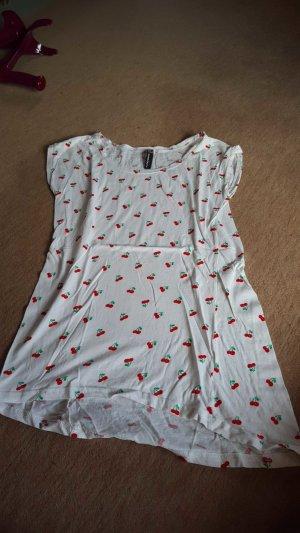 T-Shirt mit Kirsch Muster