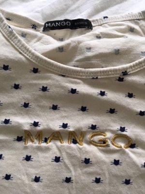 T-Shirt mit kleinen Katzenköpfen von Mango