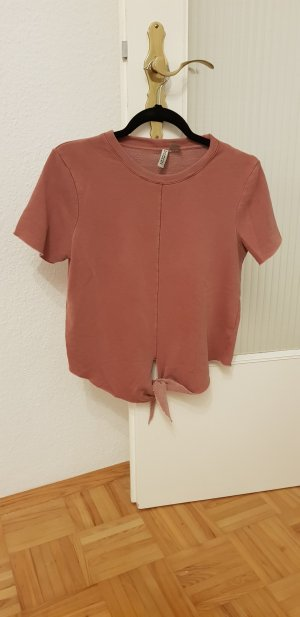 H&M T-shirt stoffig roze