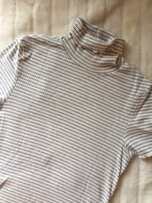 Only Ribbed Shirt white-light grey