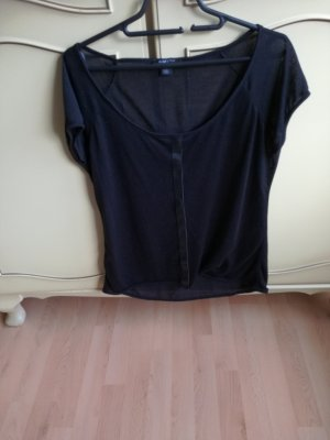 T-Shirt mit Lederimitataufdruck