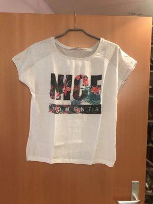 T-Shirt mit Leinenbody