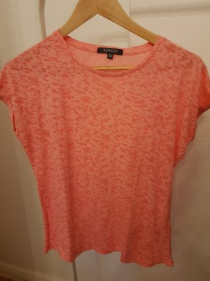T-Shirt mit Leoprint in pink