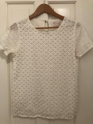 T Shirt mit Lockmuster und Glitzer