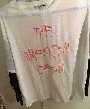 T-Shirt mit Mesh Ärmel von Tally Weijl