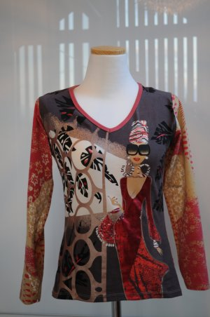 T-Shirt mit Metallic-Print von Custo Barcelona