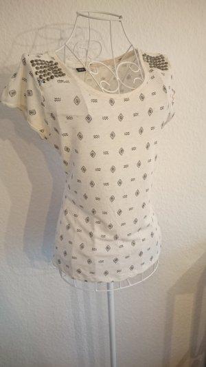 T-Shirt mit Nieten girlie