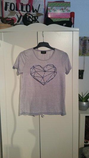 T-shirt mit Paietten Herz in 38