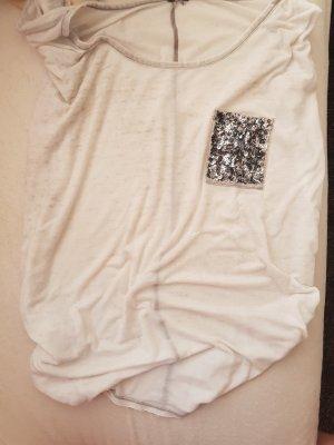 T-Shirt mit Pailettentasche