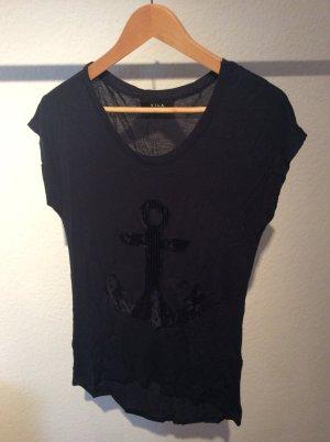 T-Shirt mit Paillettenanker
