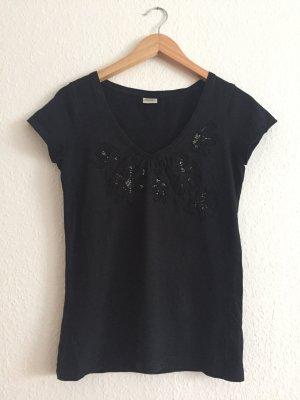 T-Shirt mit Perlenaplikationen von Esprit