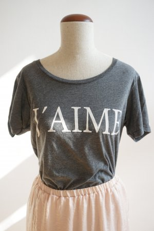 T-Shirt mit Print in grau