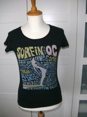 T-Shirt mit Print, Shirt, Kurzarmshirt, Roxy, schwarz, Gr. S