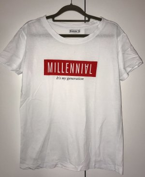 T-Shirt mit Print - Stradivarius