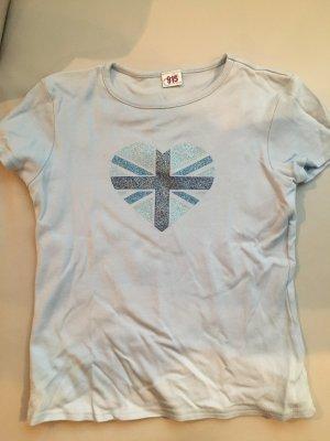 T-Shirt, mit Print UK hellblau, NEU und ungetragen, Gr. 30